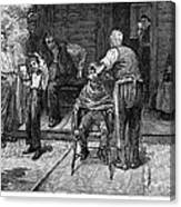 The Village Barber, 1883 Canvas Print