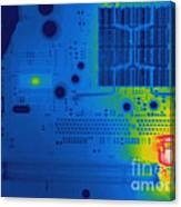 Thermogram Of A Computer Board Canvas Print