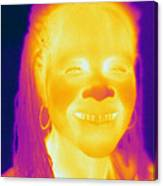 Thermogram Of A Woman Canvas Print