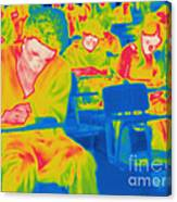 Thermogram Of Students In A Lecture Canvas Print