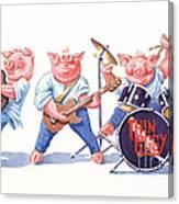 Thin Piggy Canvas Print