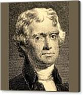 Thomas Jefferson In Sepia Canvas Print