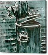 Trashcan Tom Canvas Print
