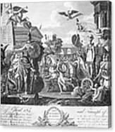 Treaty Of Ghent, 1814 Canvas Print