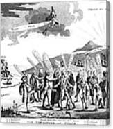 Treaty Of Paris, 1783 Canvas Print