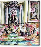 Trevi Fountain Rome Italy  Canvas Print