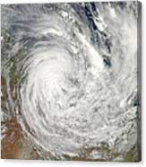 Tropical Cyclone Yasi Over Australia Canvas Print