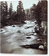 Truckee River - California - C 1865 Canvas Print