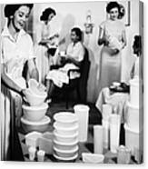 Tupperware Party, 1950s Canvas Print