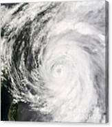Typhoon Man-yi Canvas Print