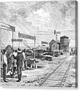 Underground Village, 1874 Canvas Print