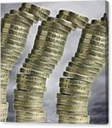Unstable Economy, Conceptual Image Canvas Print