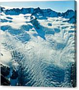 Upper Level Of Fox Glacier In New Zealand Canvas Print