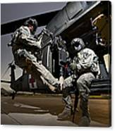 U.s. Air Force Crew Strapped Canvas Print