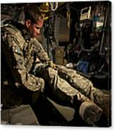 U.s. Army Specialist Practices Giving Canvas Print