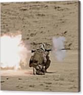 U.s. Marine Fires A Rpg-7 Grenade Canvas Print