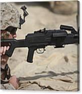 U.s. Marine Prepares To Fire A Pk Canvas Print