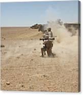 U.s. Marines Fire Several Canvas Print