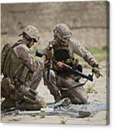 U.s. Marines Prepare A Fragmentation Canvas Print