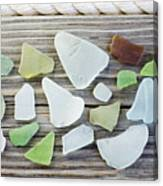 Usa, New York State, New York City, Brooklyn, Collection Of Sea Glass Canvas Print