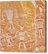 Usa, Utah And Colorado, Dinosaur National Monument, Petroglyphs Canvas Print