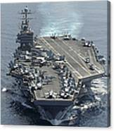 Uss Abraham Lincoln Transits The Indian Canvas Print