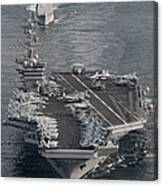 Uss Carl Vinson And Uss Bunker Hill Canvas Print
