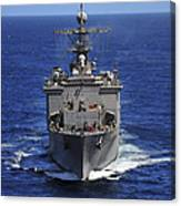 Uss Comstock Transits The Indian Ocean Canvas Print