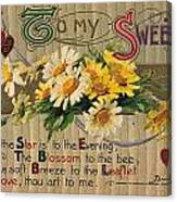 Valentines Day Card, 1910 Canvas Print