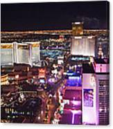 Vegas Strip At Night Canvas Print