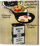 Vegetable Oil Ad, 1918 Canvas Print