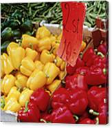 Vegetables At Market Stand Canvas Print