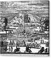 Versailles: Gardens, 1685 Canvas Print