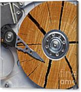 Very Old Hard Disc Canvas Print