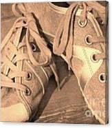 Vintage Sneakers Canvas Print
