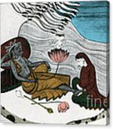 Vishnu And Lakshmi Canvas Print