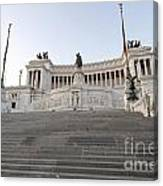 Vittoriano Monument To Victor Emmanuel II. Rome Canvas Print