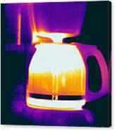 Warming Coffee Machine Canvas Print