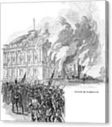 Washington Burning, 1814 Canvas Print
