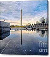 Washington Monument From The World War II Memorial Canvas Print