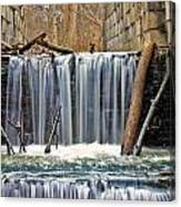 Waterfalls At Old Erie Canal Locks Canvas Print