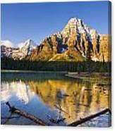 Waterfowl Lakes And Mount Chephren Canvas Print