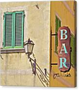 Weathered Rustic Metal Bar Sign Canvas Print