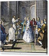 Wedding, C1730 Canvas Print