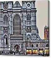 Westminster Abbey And  Victoria Tower Canvas Print