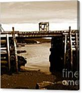 Wharf At Low Tide Canvas Print
