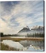 Whitegoat Lake And Mount Elliot Canvas Print