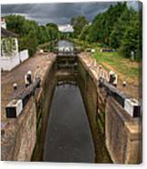 Wide Water Lock Canvas Print