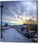 Winter At The Boat Inn Canvas Print