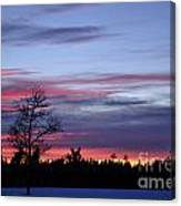 Winter Set Canvas Print